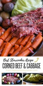 This homemade corned beef and cabbage recipe is so easy to make and the flavor is amazing. Recipe uses simple ingredients and is cooked in the crock pot!