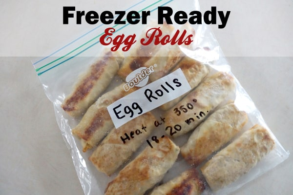 This baked egg roll recipe is freezer friendly and is great to have on hand for your hungry crew! Making your own baked egg rolls is healthy, easy and fun! happymoneysaver.com