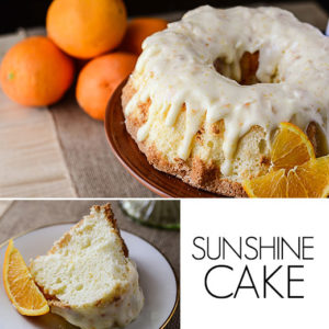 This vintage Sunshine Cake Recipe is the perfect spring dessert! Light, fluffy, and full of orange flavor, it's like literally tasting sunshine!