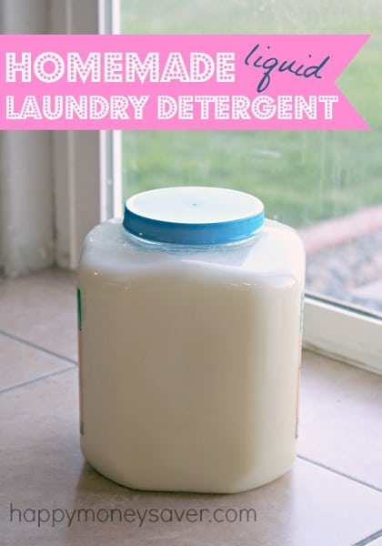 DIY Recipe for Liquid Laundry Detergent