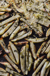 Oven Baked Basil French Fries homemade recipe
