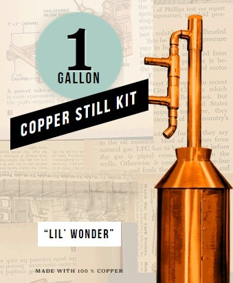 Clawhammer Copper Still Kit is perfect for survialists and preppers.
