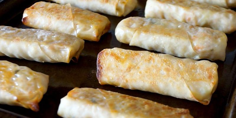 Easy Healthy Baked Egg Rolls   Freezer Friendly