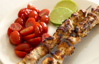 Garlic Lime Chicken Kabobs {Freezer Friendly Meal}