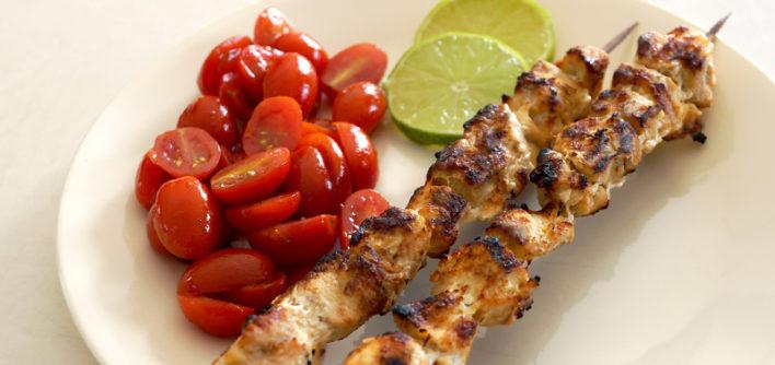 Garlic Lime Chicken Kabobs {Freezer Friendly Meal}