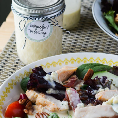 This homemade Roquefort Dressing rivals any bottled dressing on store shelves - it's creamy, tangy, and downright perfect!