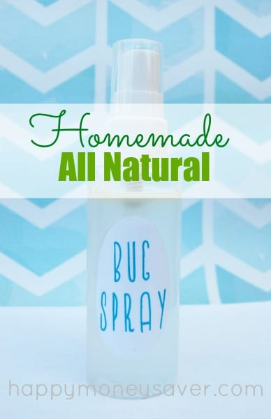 Make this quick and inexpensive non toxic bug spray to replace the chemical laded name brand varieties. It is all natural with no harsh chemicals, and delivers the same results! Happymoneysaver.com