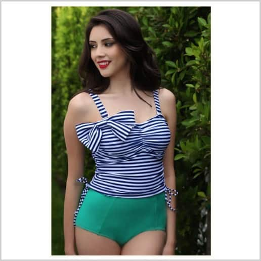 17 Thrifty & Cute Modest Swimsuits to keep you confident and beautiful poolside this summer! |happymoneysaver.com