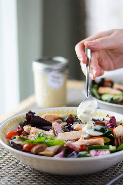 This homemade Roquefort salad dressing recipe rivals any bottled dressing on store shelves - it's creamy, tangy, and downright perfect!