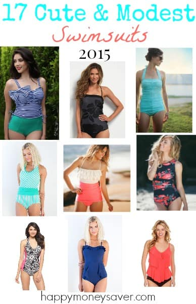 17 Thrifty & Cute Modest Swimsuits to keep you confident and beautiful poolside this summer!