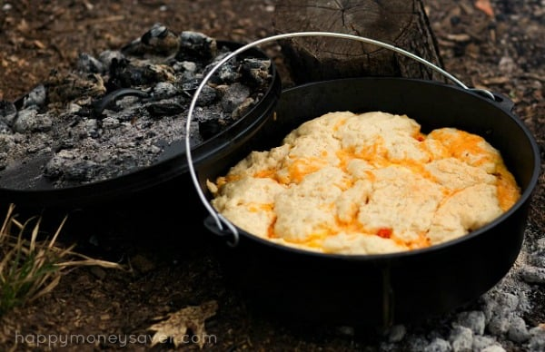 5 Layer Dutch Oven Country Breakfast Camping Recipe