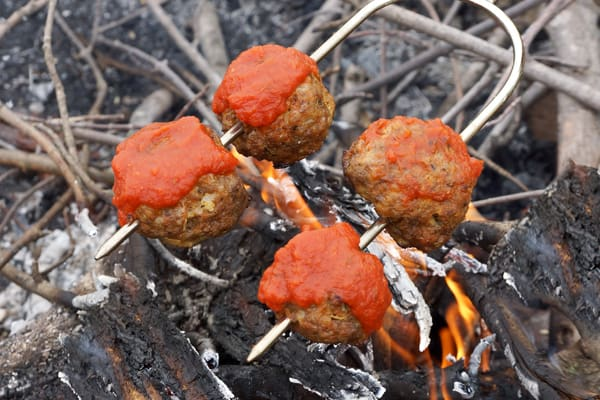 You've got to try this Meatball Sub Recipe on your next camping trip! It's so easy and delicious all your campground neighbors will be jealous!! happymoneysaver.com