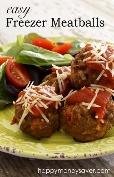 This Easy Freezer Meatballs Recipe is delicious, you'll definitely want to stock up on these...they are so easy to make and a family favorite! They're a win-win! happymoneysaver.com