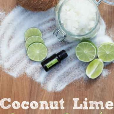 Coconut Lime Sugar Scrub Easy DIY Recipe - happymoneysaver.com