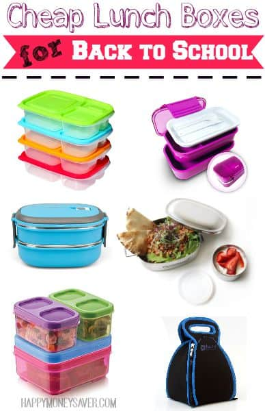 Tired of paying loads of money into lunch containers that end up not working well? Check out these cheap lunch boxes all with great reviews and on sale!- happymoneysaver.com