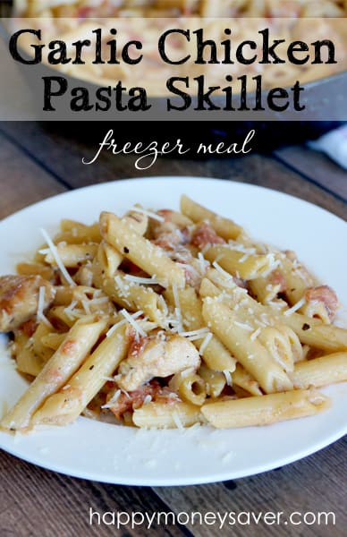 Garlic chicken pasta recipe freezer meal your family is going to love my garlic chicken pasta recipe my kids ask for forumfinder
