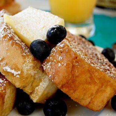Vanilla Orange Custard Freezer French Toast