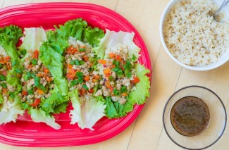 Freezer Meal Asian Lettuce Chicken Wraps