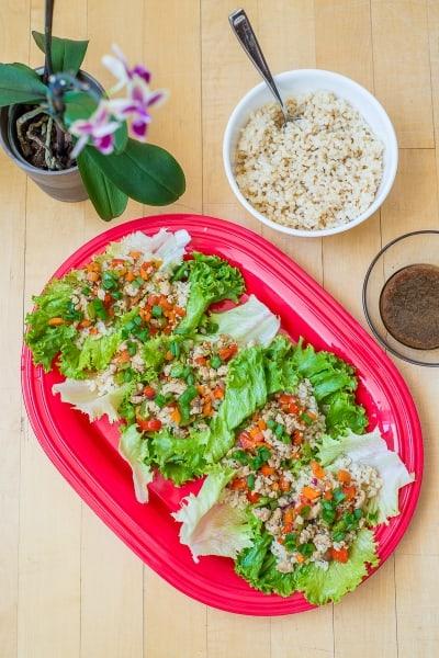 Light & Healthy Freezer Lettuce Chicken Wraps