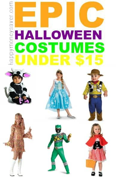 Halloween is around the corner and I'm sure you've been thinking about a costume for your child. Come check out some kids epic Halloween costumes under $15!- happymoneysaver.com