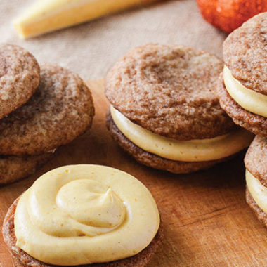 Pumpkin Snickerdoodle Sandwich Cookies | happymoneysaver.com