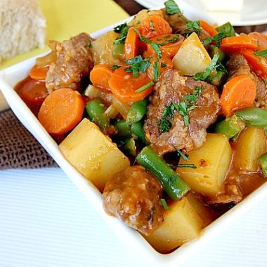 Easy to Make Beef Stew {In the Slow Cooker!}