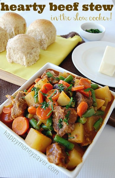 This easy to make beef stew made my house smell amazing!! The whole family loved it and it was a snap to make! -- Happymoneysaver.com