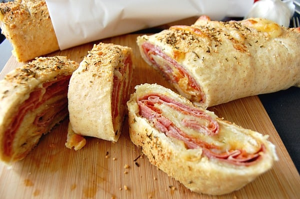 Ham and Cheese Stromboli Recipe. It makes my mouth water just thinking about it! | Happymoneysaver.com