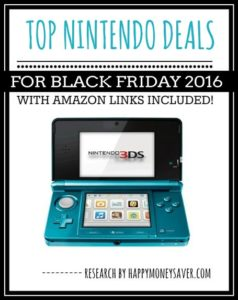 Top Black Friday deals for Nintendo 2016