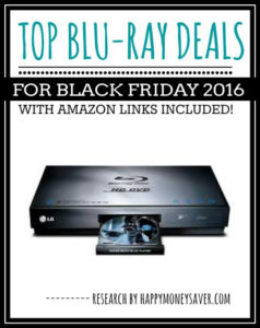 Top Blu-Ray Deals for Black Friday 2016