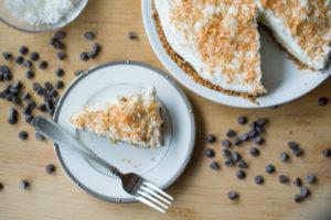 Coconut Pie overhead slice