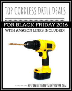 Top Cordless Drills & Tool Deals for Black Friday 2016
