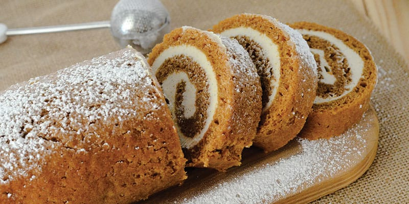 Easy Pumpkin Roll Recipe With Vanilla Bean Frosting