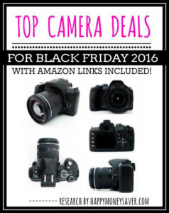 Top Camera Deals for Black Friday 2016