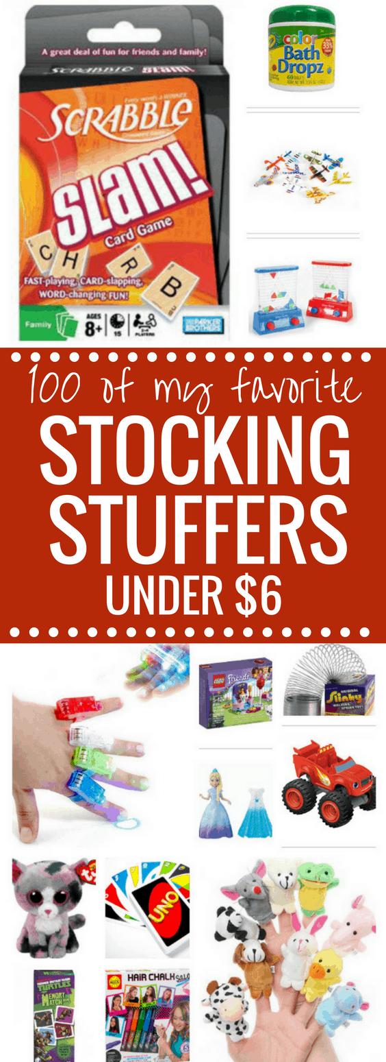 100 Stocking Stuffer Ideas all UNDER $6 dollars! happymoneysaver.com