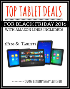 Top Tablet and iPad deals for Black Friday 2016