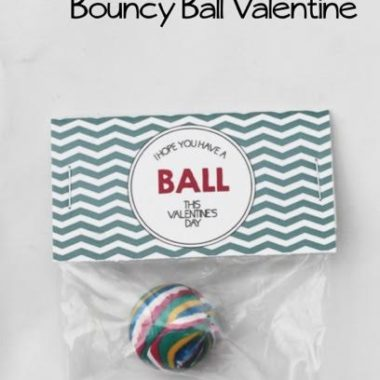 Free Printable: Bouncy Ball Valentine!