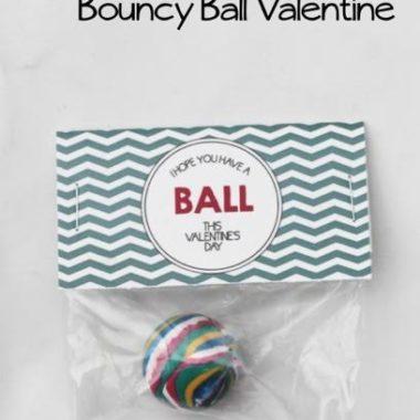 Free Printable: Bouncy Ball Valentine!