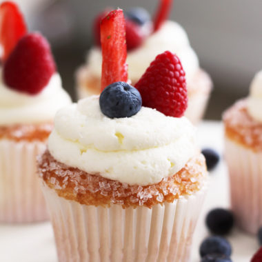 Berries on A Cloud Cupcake Recipe