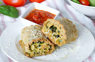 Pesto Spinach Lasagna Roll Ups {Freezer Meal}
