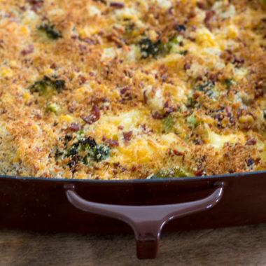 Cheesy Broccoli Potato Bake Freezer Meal