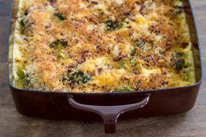 Cheesy Broccoli Potato Bake Freezer Meal - so easy and delicious!