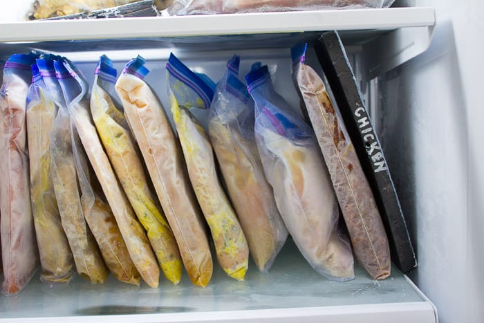 Using foam tombstone sheets from the dollar store to organize your freezer meals. This and tons other genius ideas.