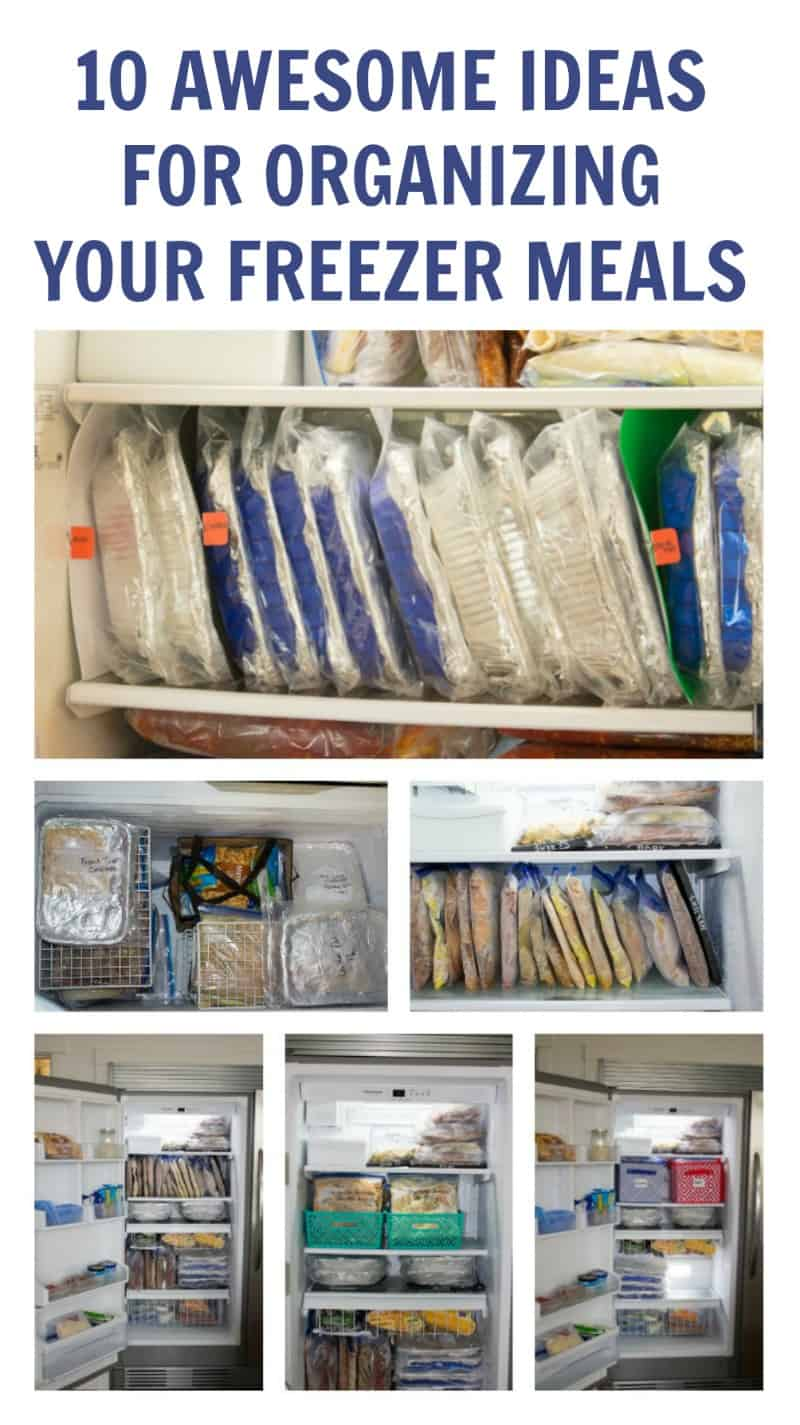 Some amazing ideas you have got to see for organizing your freezer meals - includes many different types of freezers organized too!