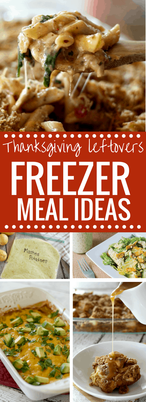 Take those leftovers and turn them into freezer meals to save you time and money. 14 Thanksgiving leftovers freezer meal ideas! Delicious ideas to use up your leftover turkey, stuffing, rolls and more. happymoneysaver.com