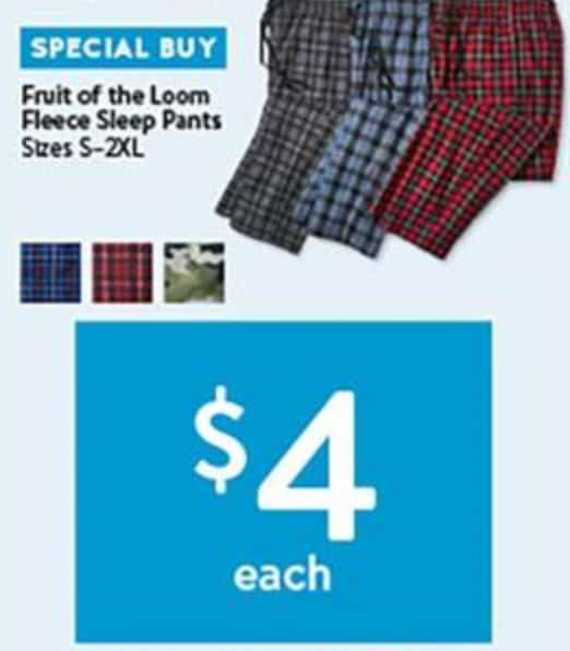 Black Friday Pajama deals $4 each at Walmart for 2018
