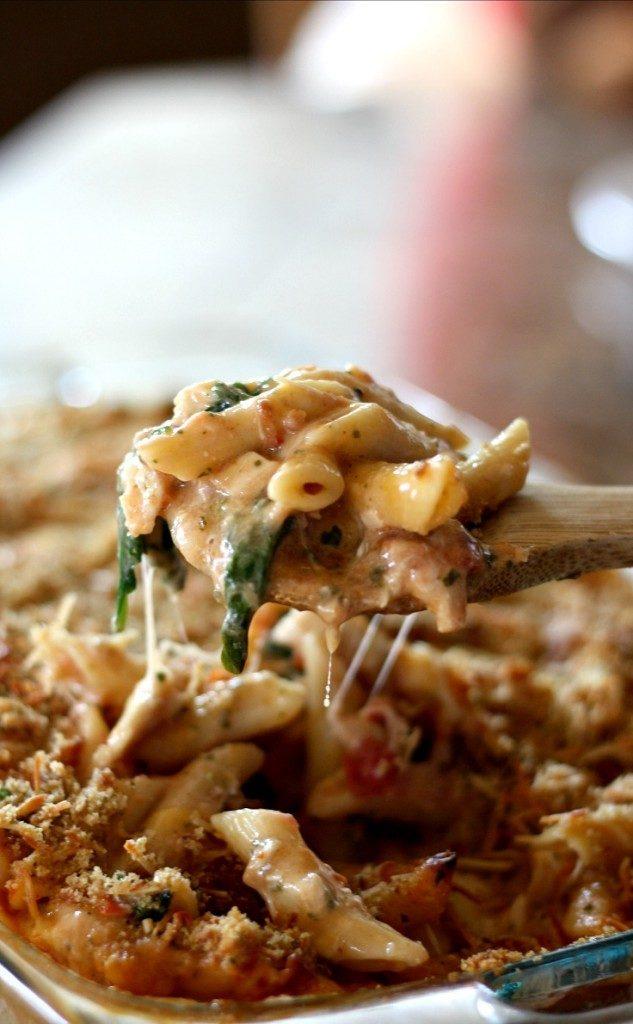 Baked Chicken Pesto Alfredo   Freezer Friendly Make Ahead Meal