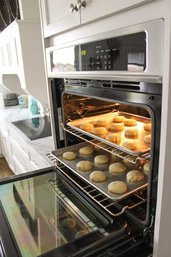 easy sugar cookies baking in frigidaire gallery double oven