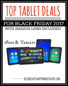 Top Tablet and iPad deals for Black Friday 2017