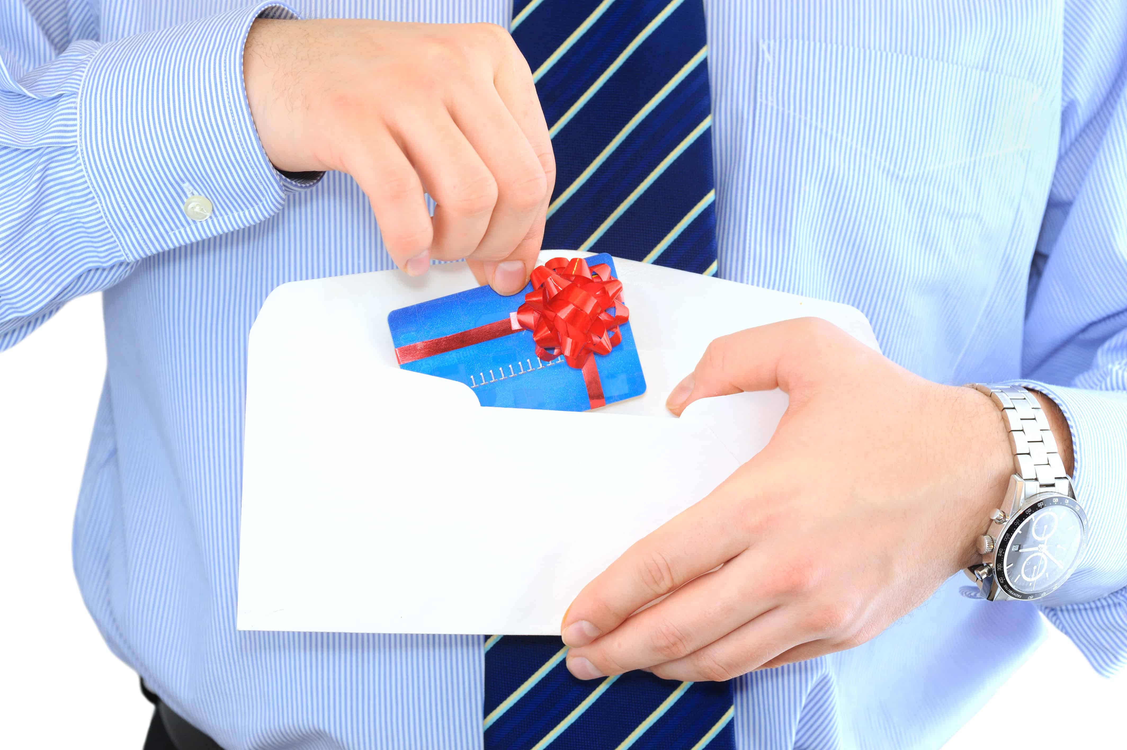 Businessman is sending a pre-approved credit card by mail